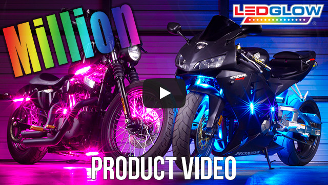 Advanced Million Color SMD LED Motorcycle Lights Video