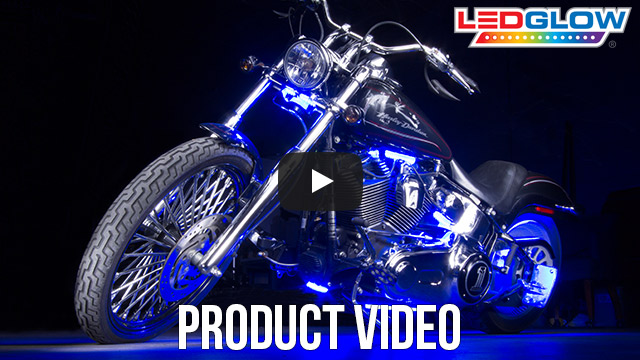 Classic Blue LED Motorcycle Lights Video
