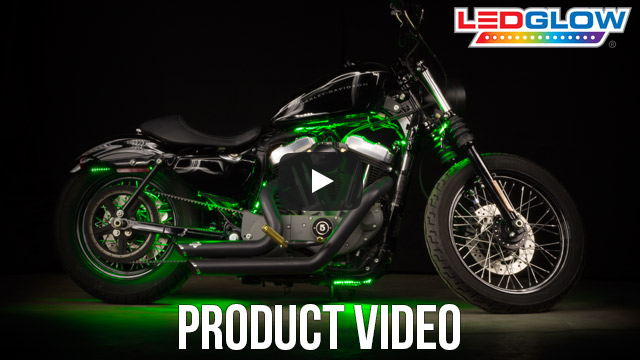 Classic Green LED Motorcycle Lights Video