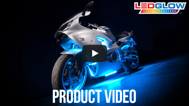 Classic Ice Blue LED Motorcycle Lights Video