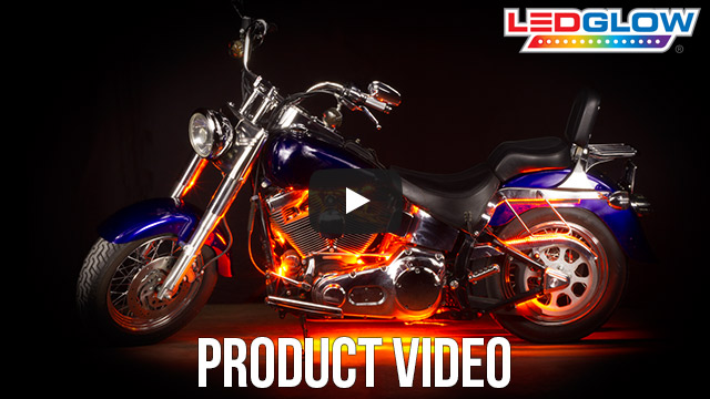 Classic Orange LED Motorcycle Lights Video