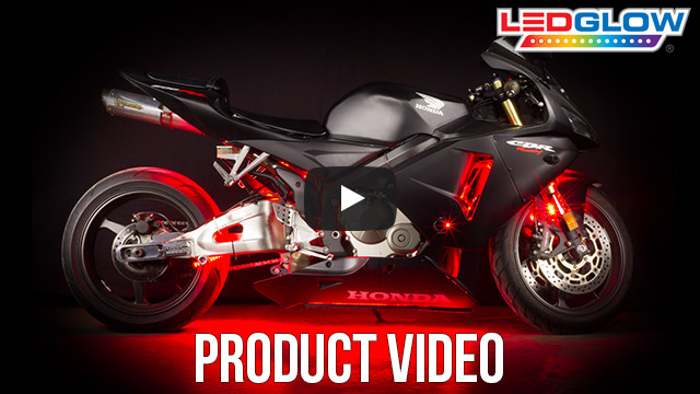 Classic Red LED Motorcycle Lights Video
