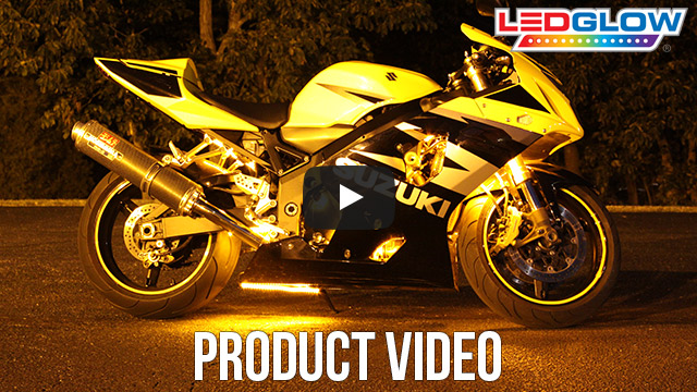 Classic Yellow LED Motorcycle Lights Video