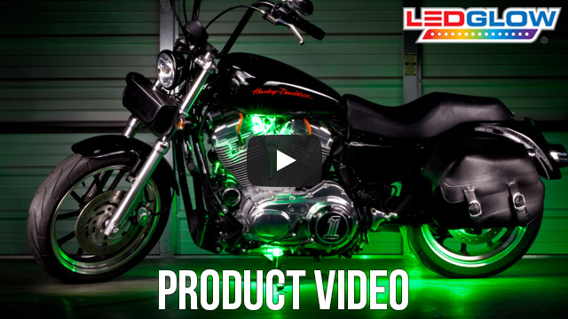 Green SMD LED Motorcycle Pod Lights Video