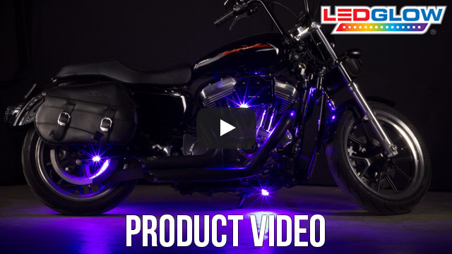 Purple SMD LED Motorcycle Pod Lights Video