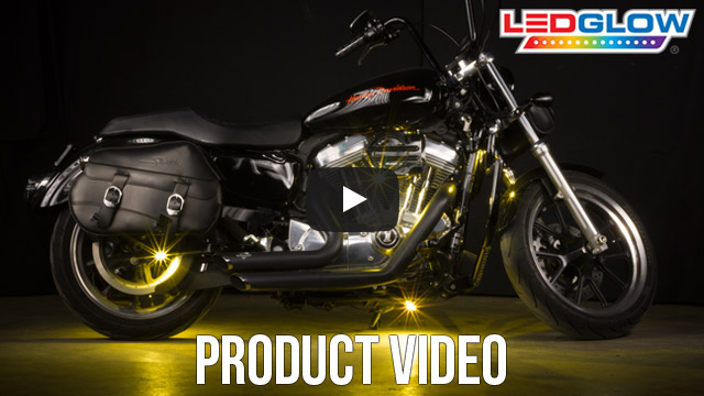Yellow SMD LED Motorcycle Pod Lights Video
