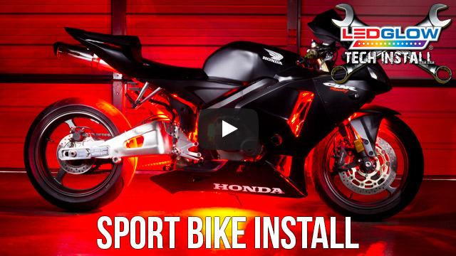 ledglow sports bike installation