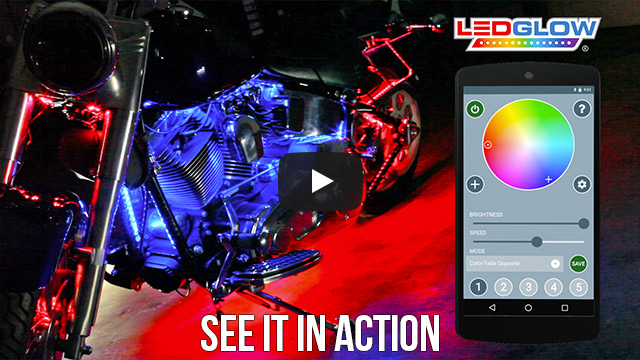 Advanced Million Color SMD LED Smartphone Motorcycle Lights Video