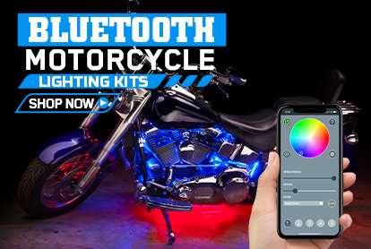 Smartphone Bluetooth Controlled Motorcycle LED Lighting Kits